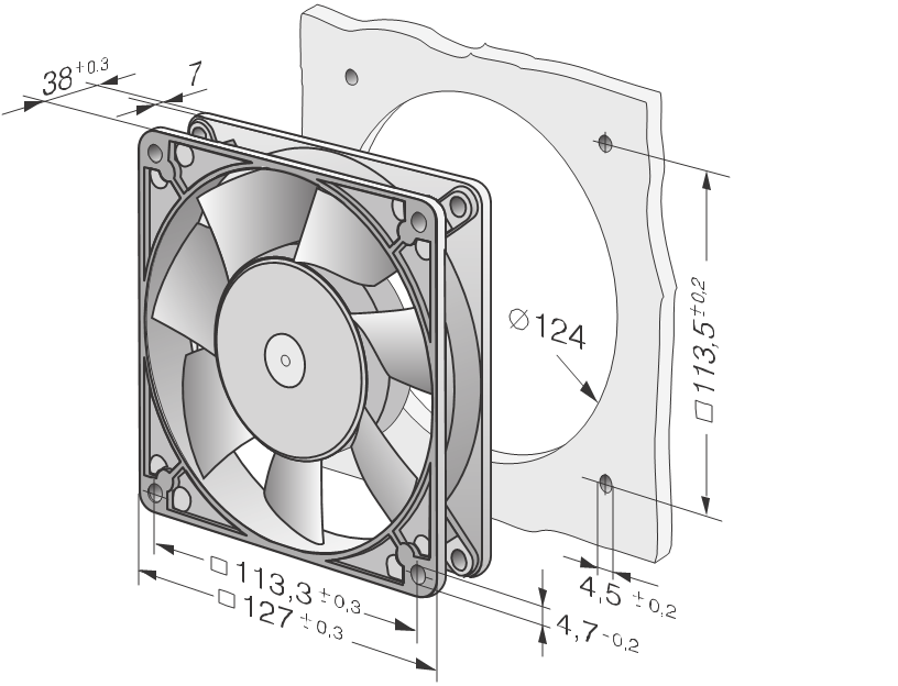 EBM 5958 AC axial fan New 18R0086