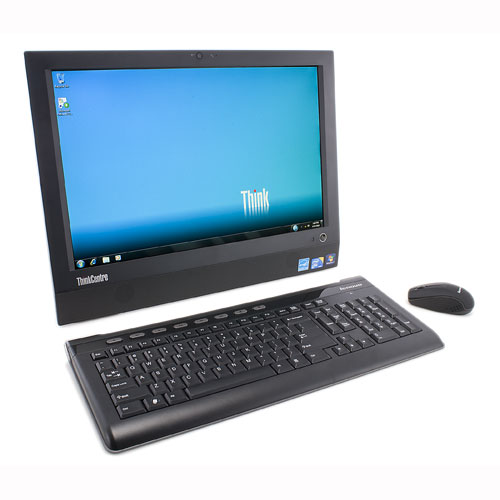 "All in One Desktop Lenovo ThinkCentre A70z Used A E5500 3 Ghz 4GB Memory 500GB HDD 19"" HD Graphics"