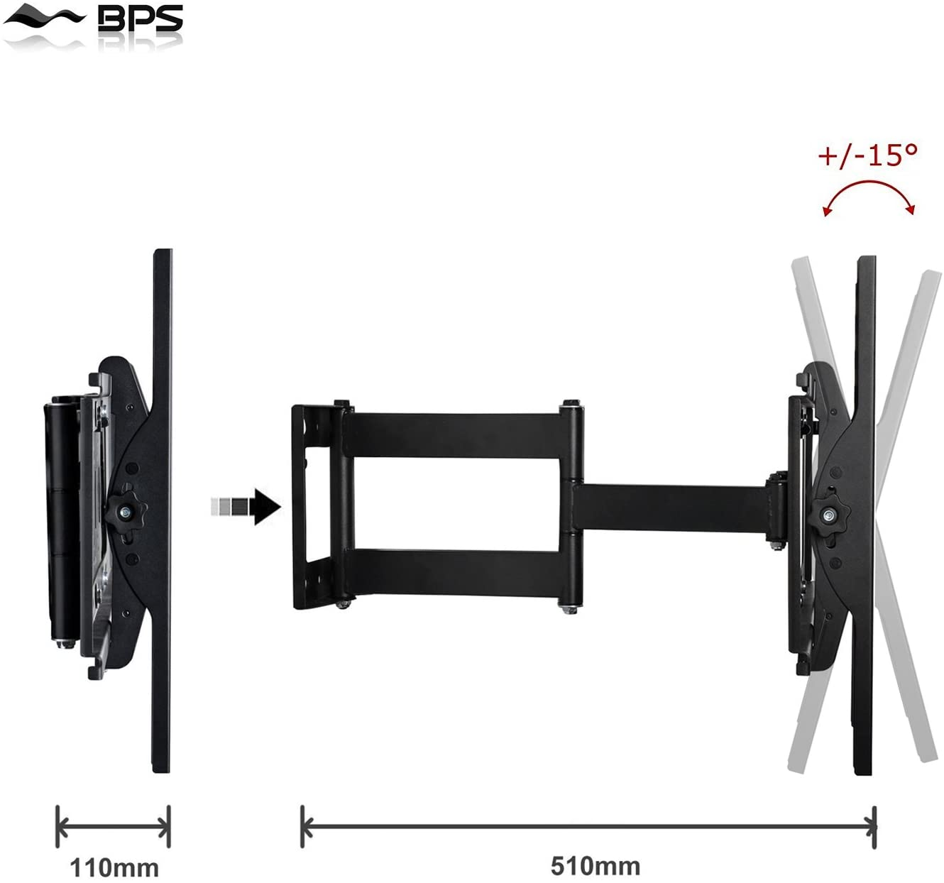 BPS 30-60 Wall Mount Universal 40KG MT1153