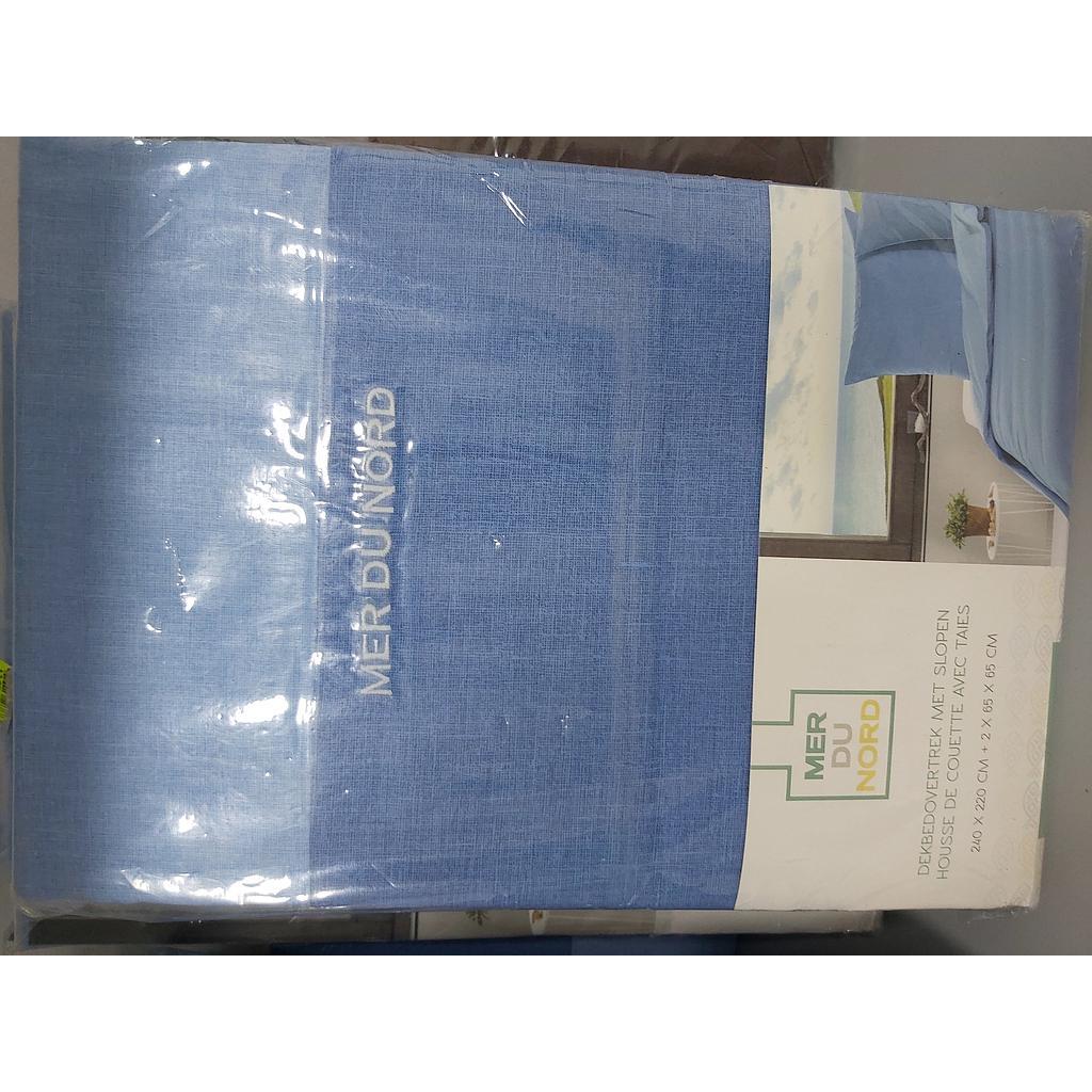 Cotton Drap Housse 240Cm X 220Cm Blue