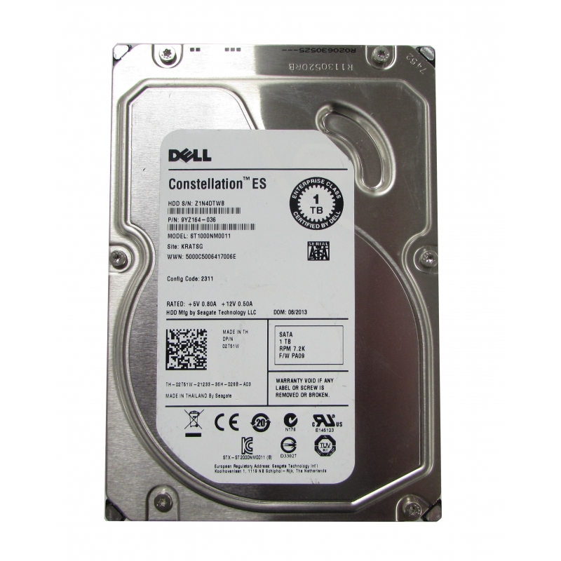 Dell Hard Disk ST1000NM0011 SATA 1TB 3.5 INCH HDD Used A