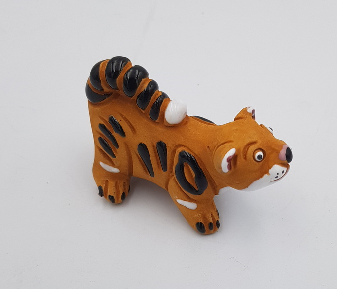 Articiones Handmade Young Tiger Figurine Decor